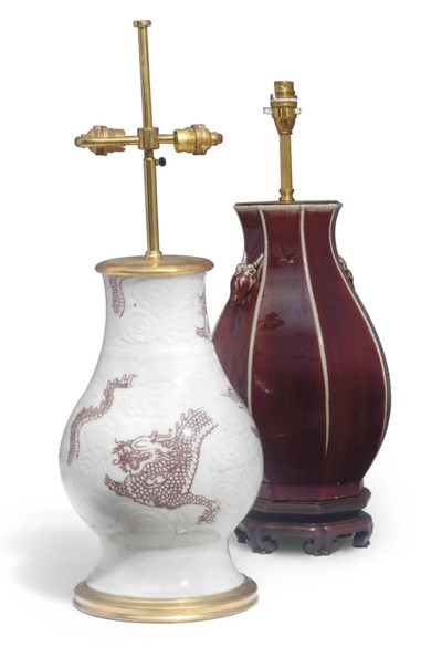 TWO CHINESE PORCELAIN VASES, C