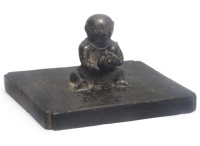 A Chinese stone weight, possib