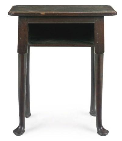 A GEORGE II MAHOGANY SIDE TABL