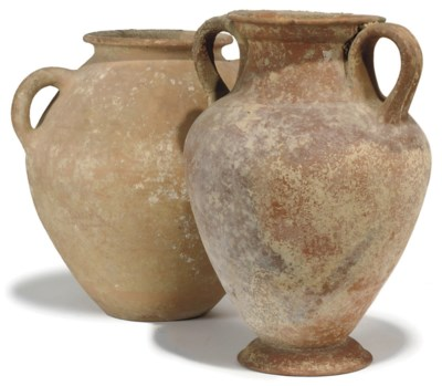 THREE MEDITERRANEAN POTTERY AM