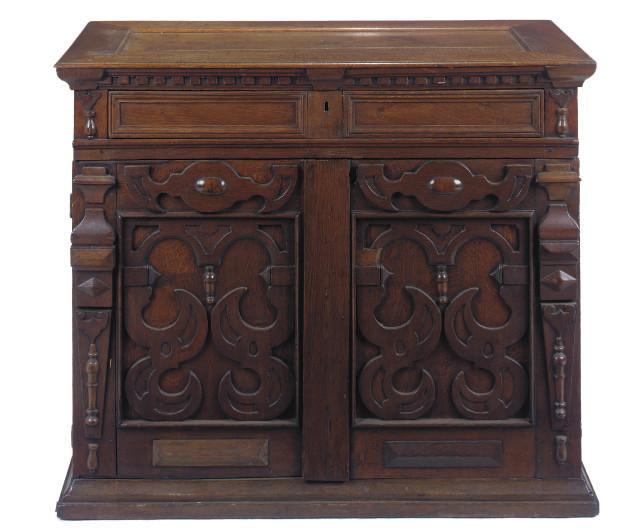 AN ANTIQUARIAN CHARLES II OAK