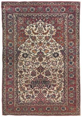 A very fine Isfahan prayer rug