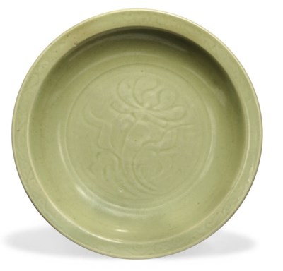 A CHINESE CELADON GLAZED CHARG