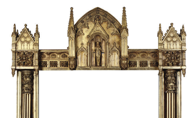 A GOTHIC REVIVAL GILTWOOD AND