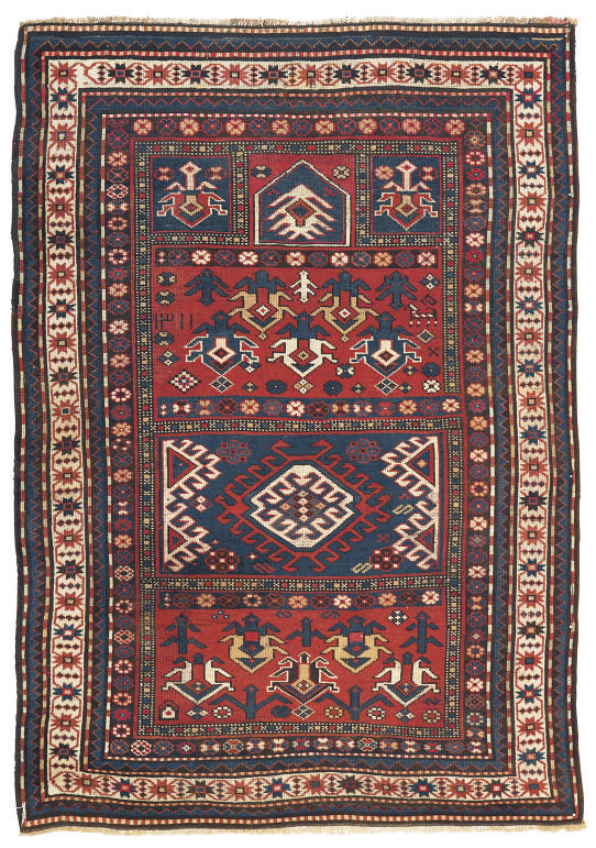 An unusual Kazak prayer rug