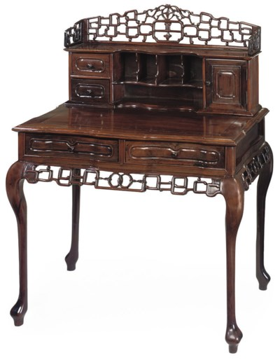A CHINESE HARDWOOD DESK
