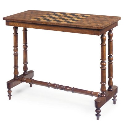 A VICTORIAN ROSEWOOD AND WALNU