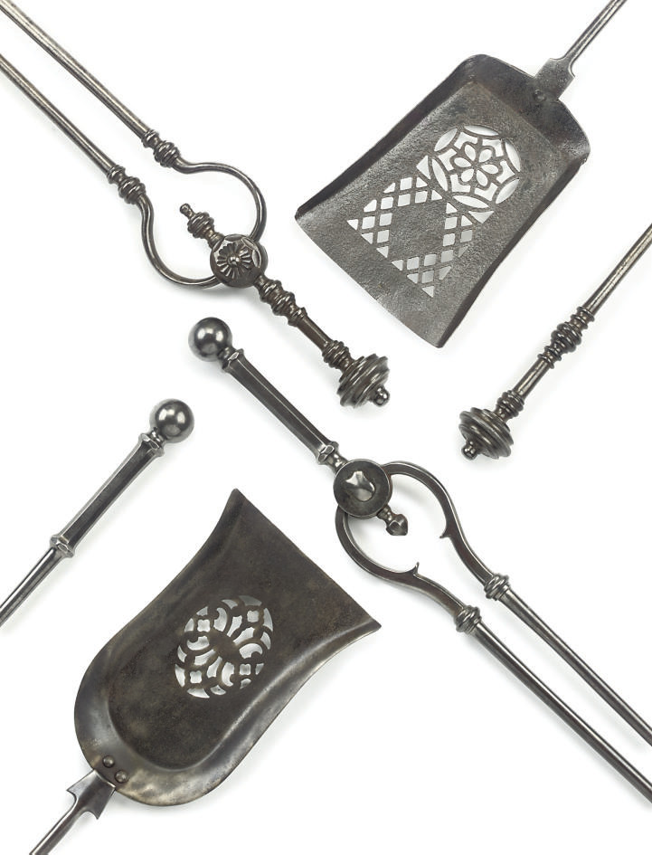 TWO SETS OF REGENCY STEEL FIRE