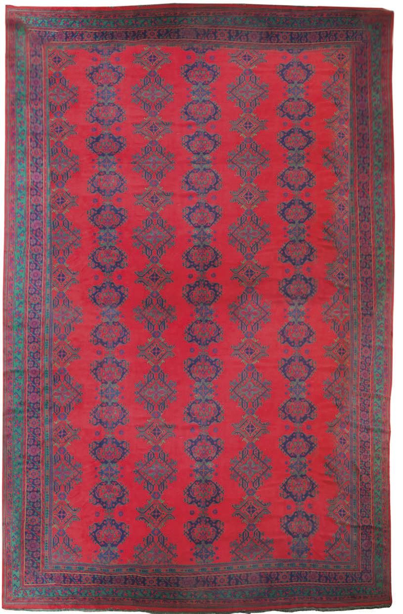 A massive Turkey carpet of Smyrna design