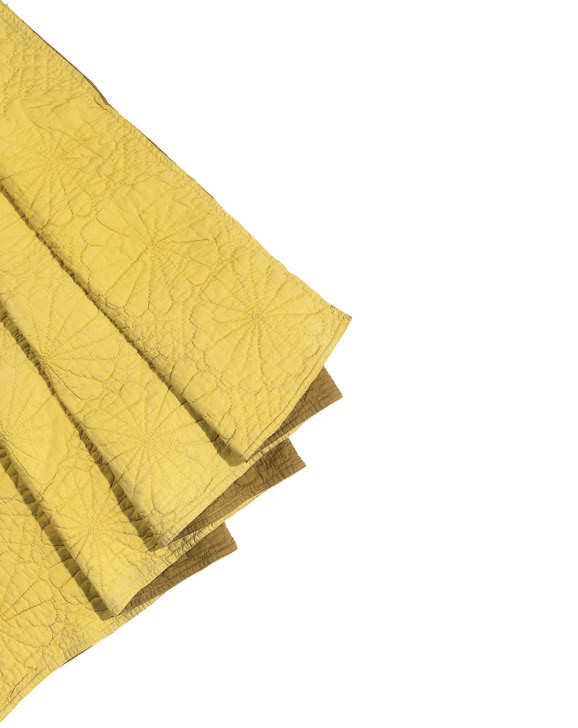 TWO DEEP GOLD QUILTS