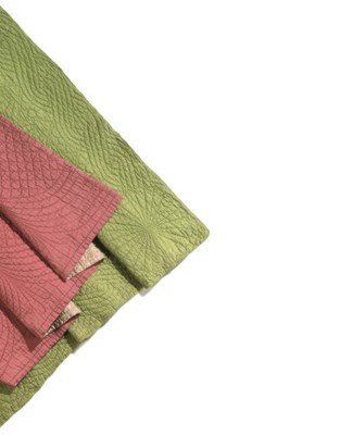 TWO WHOLECLOTH QUILTS