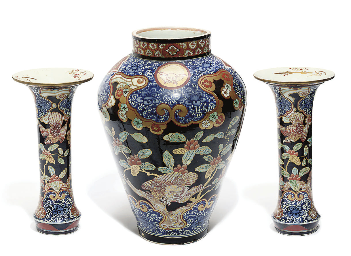 A Japanese Three-piece Garnitu