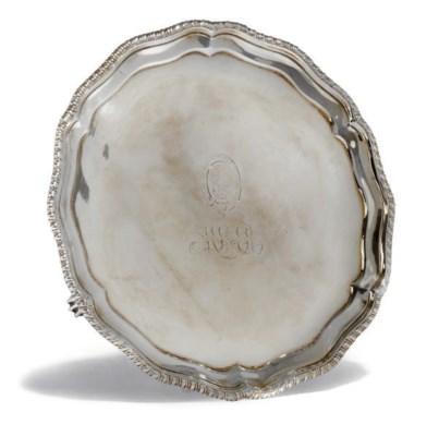 A GEORGE III IRISH SILVER SALV