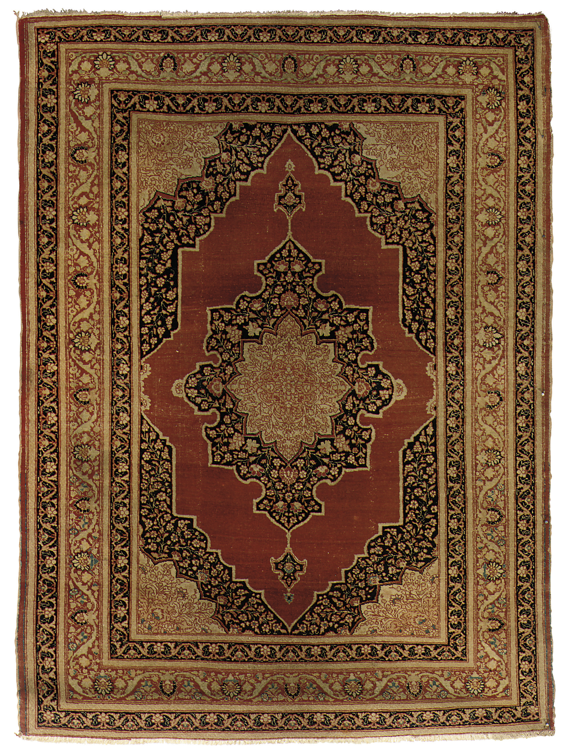 A fine antique Tabriz rug