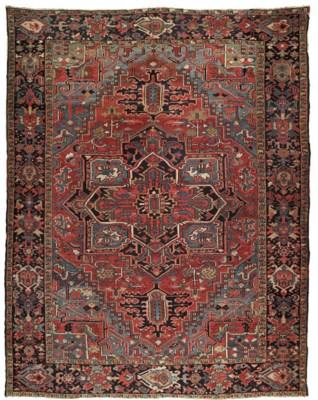 A Heriz carpet