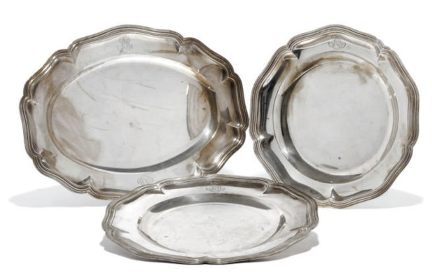 A SUITE OF THREE FRENCH SILVER