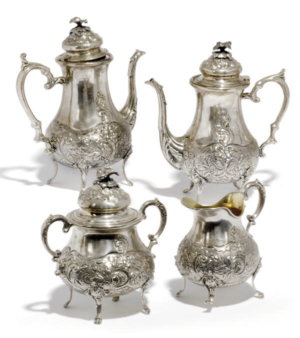 A GREEK/CYPRIOT METALWARE FOUR