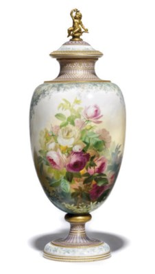 A COPELAND VASE AND COVER