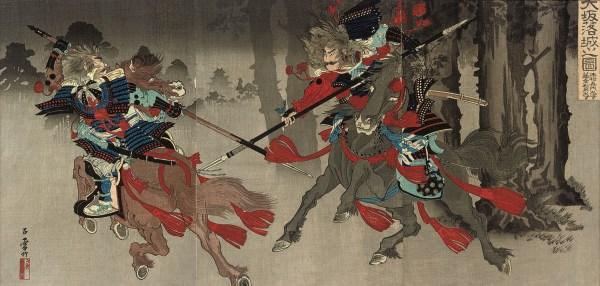 Five Japanese triptychs, Meiji
