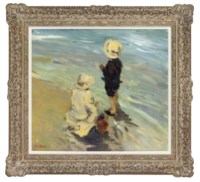 Children at the beach