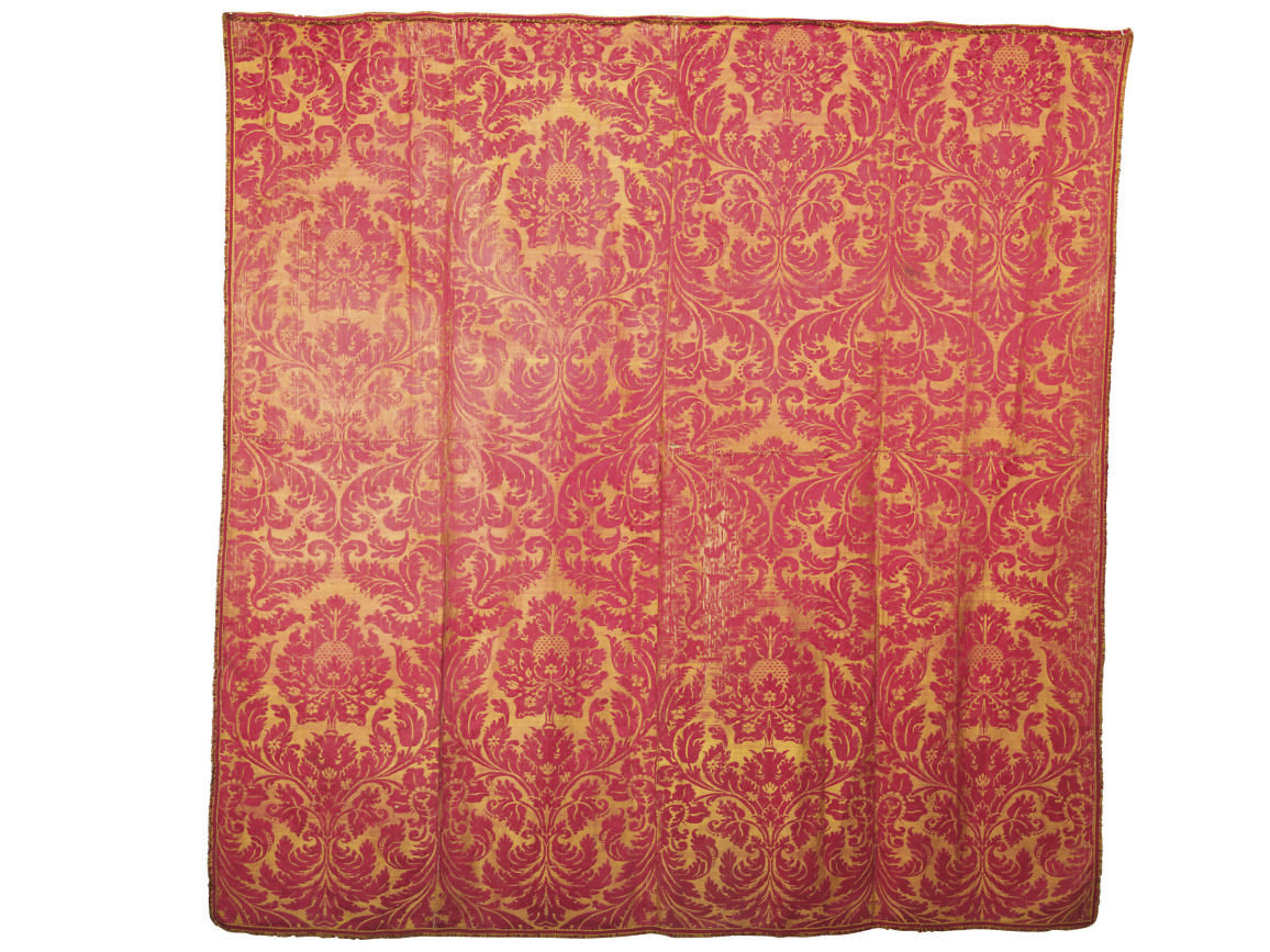A FINE AND LARGE DAMASK COVERL