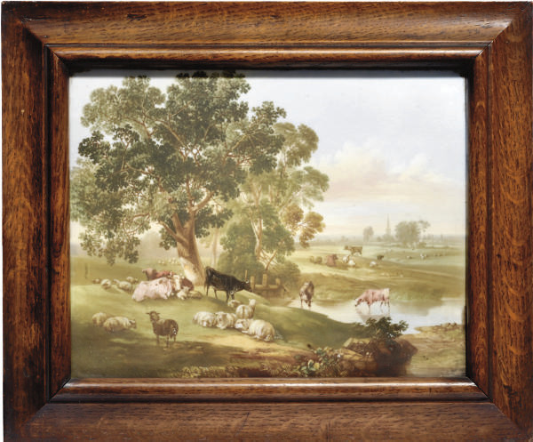 AN ENGLISH PORCELAIN PLAQUE
