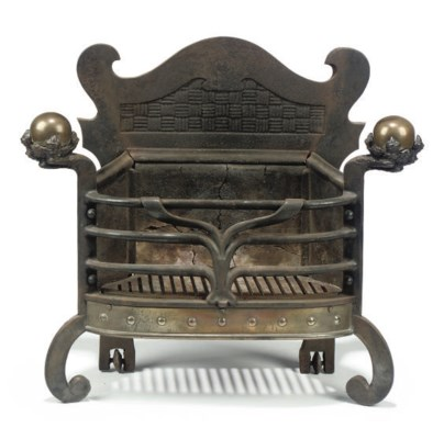 A CAST-IRON AND BRASS MOUNTED