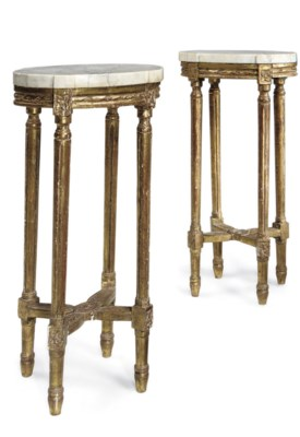 A PAIR OF GUSTAVIAN GILTWOOD O