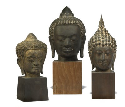 THREE SOUTH EAST ASIAN BRONZE