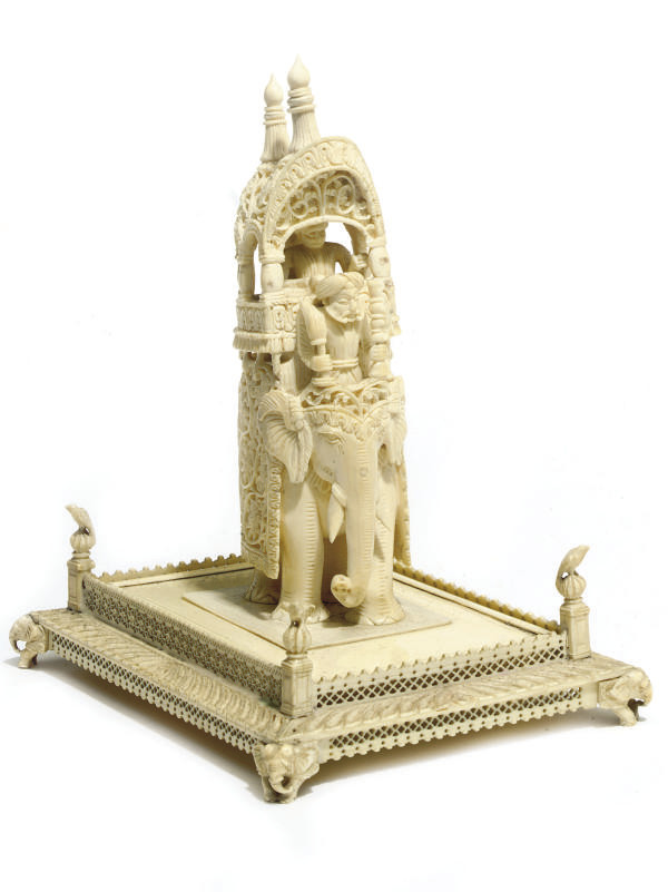 AN INDIAN IVORY CARVING OF A H