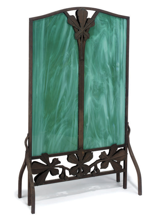 A FRENCH ART NOUVEAU IRON AND