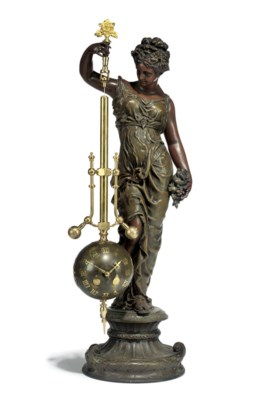 A  French patinated spelter an