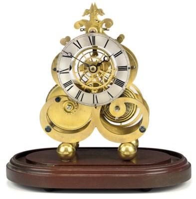A Scottish brass eight day ske