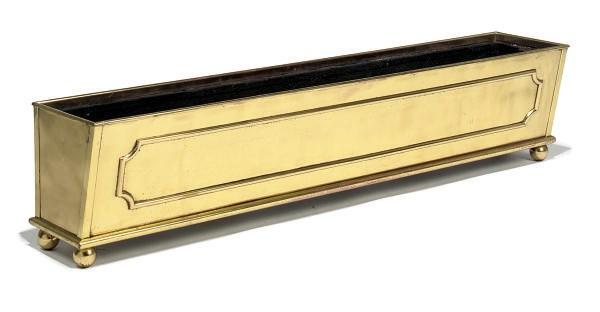 A BRASS WINDOW BOX