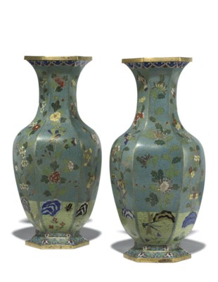 A PAIR OF CHINESE CLOISONNE HE