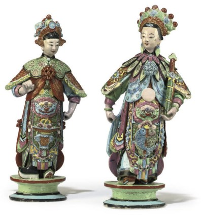 A PAIR OF CHINESE POTTERY MARR