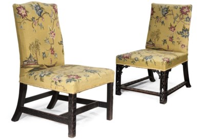 TWO GEORGE III STAINED SIDE CH