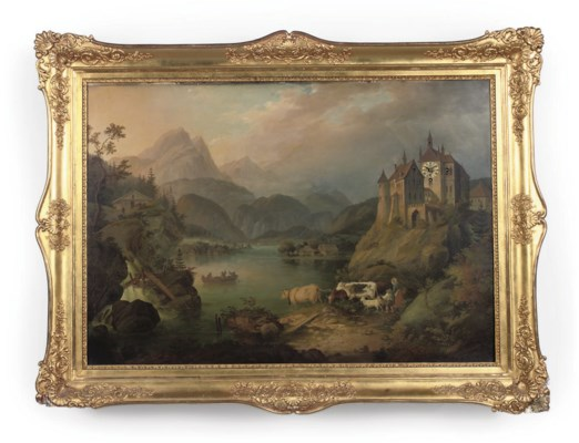 An Austrian large giltwood and
