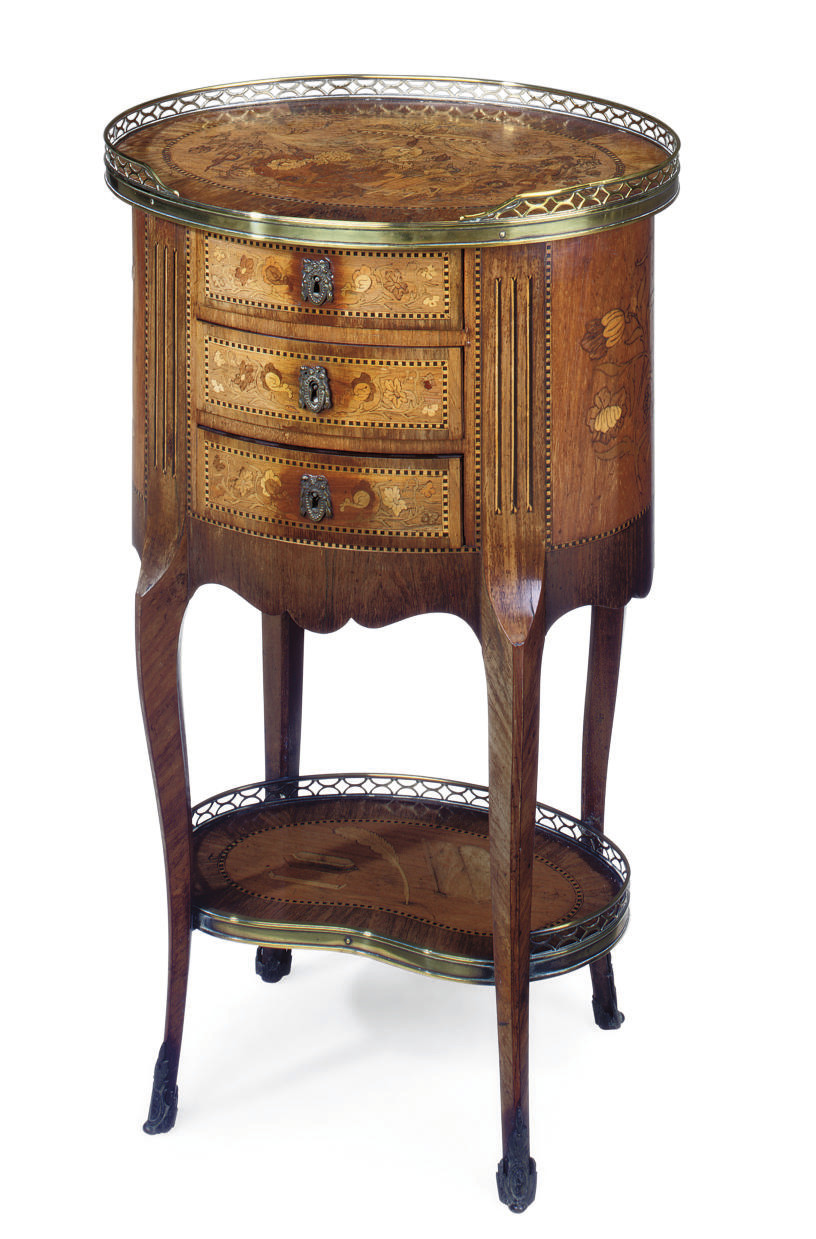 A FRENCH KINGWOOD AND MARQUETR