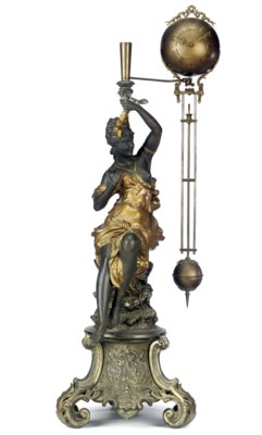 A French patinated spelter fig