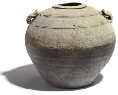 A CHINESE STONEWARE JAR