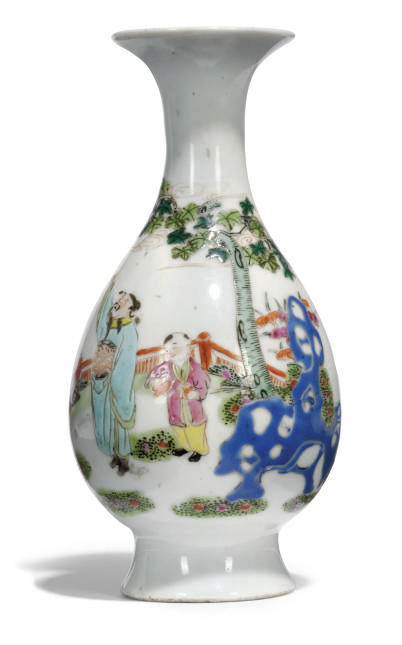 A CHINESE FAMILLE ROSE VASE, Y