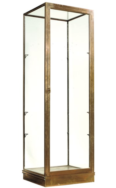 A FRENCH BRASS DISPLAY CABINET
