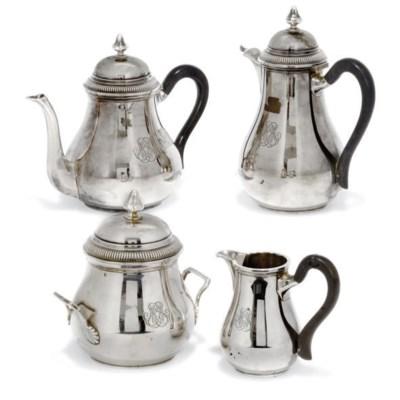 A FRENCH SILVER FOUR-PIECE TEA
