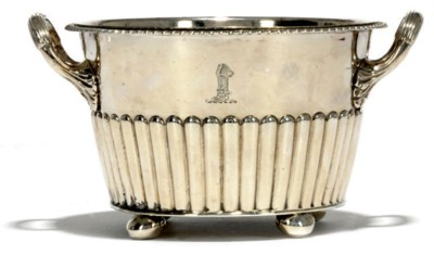 A GEORGE III SILVER BUTTER COO