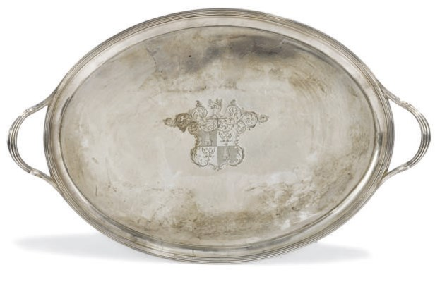 A SMALL GEORGE III OVAL SILVER