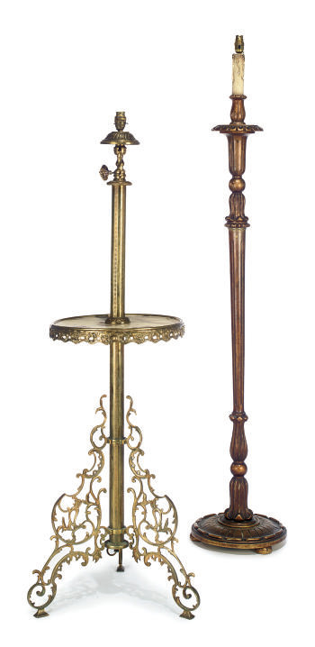 A LATE VICTORIAN BRASS AND ONY