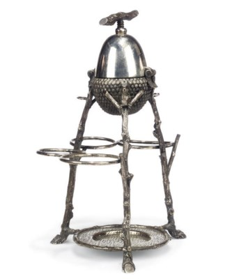 A VICTORIAN SILVER-PLATED NOVE
