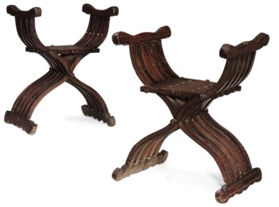 A PAIR OF SYRIAN HARDWOOD AND