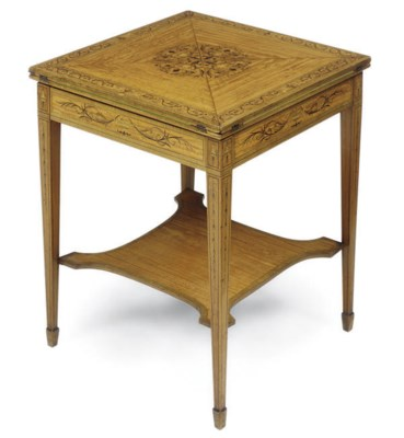 A LATE VICTORIAN SATINWOOD MAR